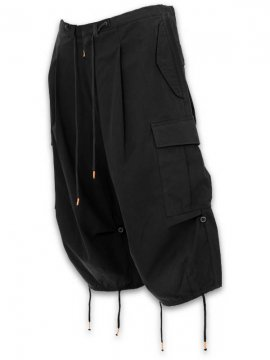 <strong>SIVA</strong>BDU DROP CROTCH TROUSERS<br>BLACK