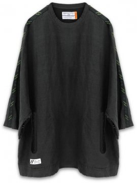 <strong>SIVA</strong>SEAMTAPE WIDE M-SLEEVE SHIRT<br>BLACK