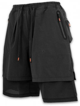 <strong>SIVA</strong>FLATSEAMER LAYERED SHORTS<br>BLACK