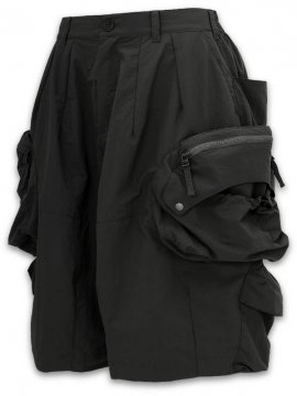 "<strong>GOOPiMADE</strong>""WIDE 11"" BIG BOY UTILITY SHORTS Deep Colorways Edition II<br>BLACK"