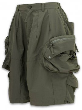 "<strong>GOOPiMADE</strong>""WIDE 11"" BIG BOY UTILITY SHORTS Deep Colorways Edition II<br>OLIVE"