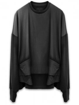 <strong>JOE CHIA</strong>DOUBLE LAYER SWEAT<br>BLACK