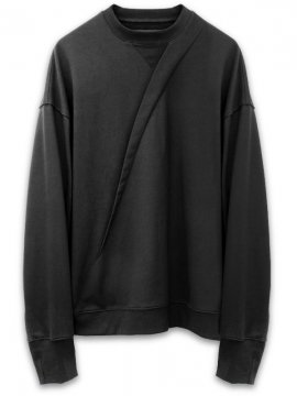 <strong>JOE CHIA</strong>SLANTED PLEAT SWEAT<br>BLACK
