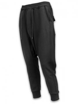 <strong>JOE CHIA</strong>DROPPED CROTCH PANTS<br>BLACK