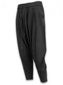 <strong>JOE CHIA</strong>PLEATED HEM TROUSERS<br>BLACK