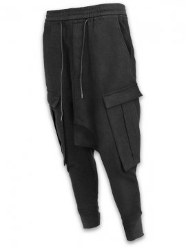 <strong>JOE CHIA</strong>POCKETED TROUSERS<br>BLACK