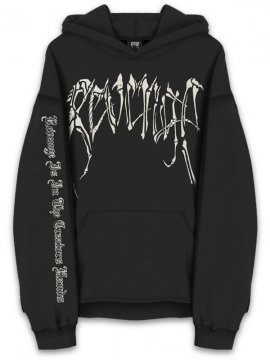 <strong>REVENGE GALLERY</strong>BLACK BONES SWEAT HOODIE<br>BLACK