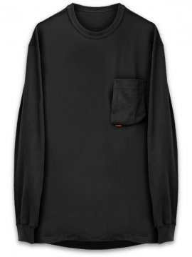 <strong>GOOPiMADE</strong>3-D LONG SLEEVE SLEEVE POCKET TEE<br>BLACK