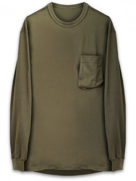 <strong>GOOPiMADE</strong>3-D LONG SLEEVE SLEEVE POCKET TEE<br>OLIVE