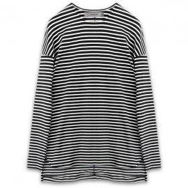<strong>alchemist ink</strong>STRIPED LONG SLEEVE T-SHIRT<br>BLACK