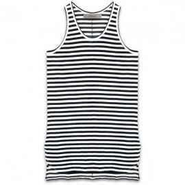 <strong>alchemist ink</strong>STRIPED ELEMENTARY TANK-TOP<br>BLACK × WHITE