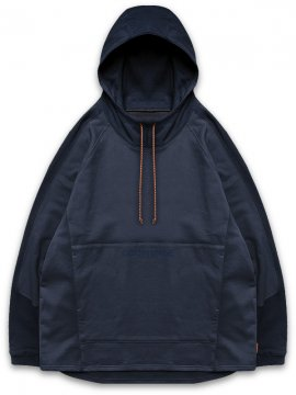 "<strong>GOOPiMADE</strong>""Mixed"" LOGO SWEAT HOODIE<br>DARK NAVY / BLUE"