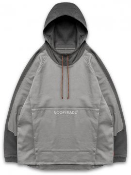 "<strong>GOOPiMADE</strong>""Mixed"" LOGO SWEAT HOODIE<br>CHARCOAL / TECH GRAY"