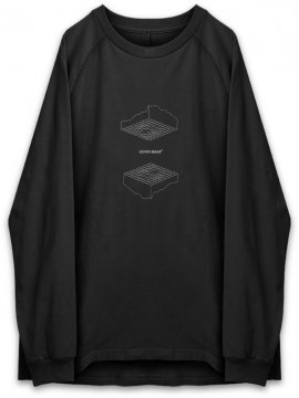 "<strong>GOOPiMADE</strong>""FL-03"" UPSIDE DOWN L/S TEE<br>BLACK"