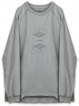 "<strong>GOOPiMADE</strong>""FL-03"" UPSIDE DOWN L/S TEE<br>GRAY"