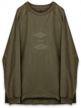 "<strong>GOOPiMADE</strong>""FL-03"" UPSIDE DOWN L/S TEE<br>OLIVE"