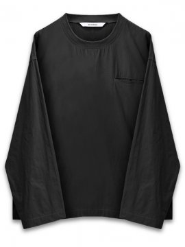 <strong>WORKWARE</strong>WOVEN CREW TOP<br> BLACK