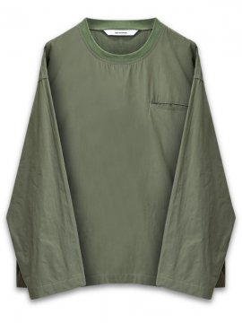 <strong>WORKWARE</strong>WOVEN CREW TOP<br>OLIVE GREEN