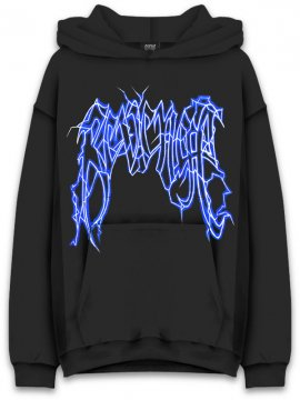 <strong>REVENGE GALLERY</strong>LIGHTNING LOGO BLACK SWEAT HOODIE<br>BLACK