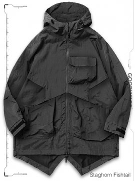 """<strong>GOOPiMADE</strong>MP-03T """"STAGHORN"""" FISHTAIL UTILITY PARKA JACKET<br>GRAY"""