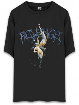 <strong>REVENGE GALLERY</strong>ANGEL LIGHTNING T-SHIRT<br>BLACK