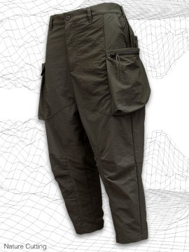 <strong>SIMPLE DESIGN</strong>NATURE CUTTING CARGO PANTS<br>OLIVE GRAY