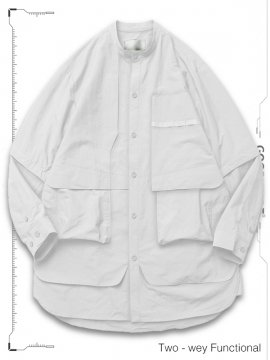 """<strong>GOOPiMADE</strong>""""TS-03"""" TWO-WAY FUNCTIONAL SHIRTS<br>WHITE"""