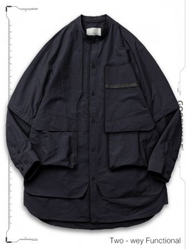 """<strong>GOOPiMADE</strong>""""TS-03"""" TWO-WAY FUNCTIONAL SHIRTS<br>NAVY"""