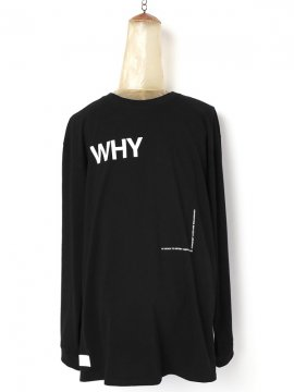 <strong>avis by SIVA</strong>WHY SCREEN WIDE L-SLEEVE TEE<br>BLACK