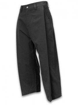 <strong>JOE CHIA</strong>DEEP PLEATED GRIDE PANTS<br>BLACK