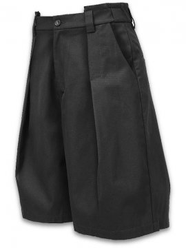 <strong>JOE CHIA</strong>REVEALED PLEATS GLIDE SHORTS<br>BLACK