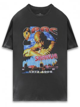 <strong>THE INSPIREDSTUDIO</strong>2PAC 1996 T-SHIRT<br>WASHED BLACK
