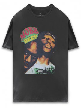 <strong>THE INSPIREDSTUDIO</strong>MOBB DEEP T-SHIRT<br>WASHED BLACK