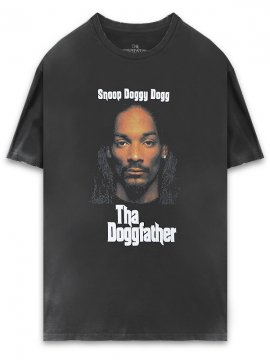 <strong>THE INSPIREDSTUDIO</strong>SNOOP DOGG Tha Doggfather T-SHIRT<br>WASHED BLACK