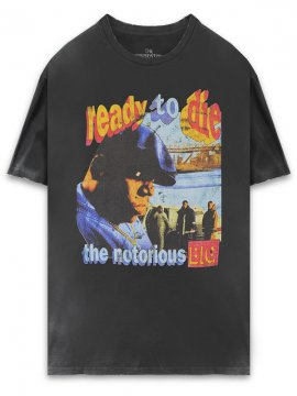 <strong>THE INSPIREDSTUDIO</strong>NOTORIOUS B.I.G. Ready To Die T-SHIRT<br>WASHED BLACK