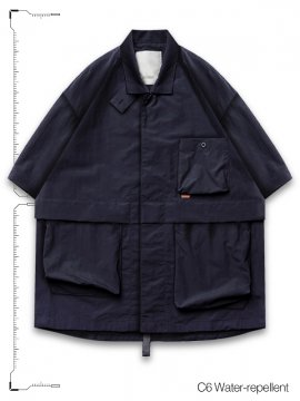 "<strong>GOOPiMADE</strong>""TP-01"" WR NECKBAND SHIRT<br>NAVY"