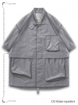 "<strong>GOOPiMADE</strong>""TP-01"" WR NECKBAND SHIRT<br>GRAY"