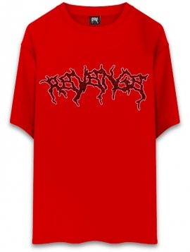 <strong>REVENGE GALLERY</strong>RHINESTONE RED T-SHIRT<br>RED