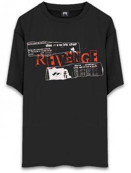 <strong>REVENGE GALLERY</strong>BUNDY BLACK T-SHIRT<br>BLACK