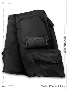 "<strong>GOOPiMADE</strong>""DP-3"" MULTI-POCKET UTILITY SHORTS<br>BLACK"