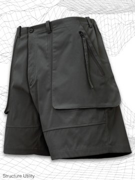 <strong>SIMPLE DESIGN</strong>STRUCTURE UTILITY SHORTS<br>GRAY