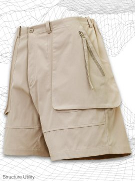 <strong>SIMPLE DESIGN</strong>STRUCTURE UTILITY SHORTS<br>IVORY