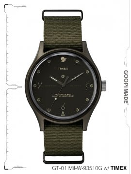 "<strong>GOOPiMADE × TIMEX</strong>""Reversed Sundial"" GT-01 Mil-W-93510G Wristwatch<br>OLIVE"