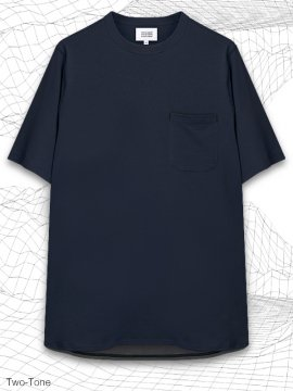 <strong>MELSIGN®</strong>TWO-TONE LONG POCKET T-SHIRTS<br>NAVY