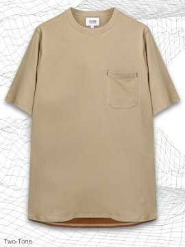 <strong>MELSIGN®</strong>TWO-TONE LONG POCKET T-SHIRTS<br>KHAKI