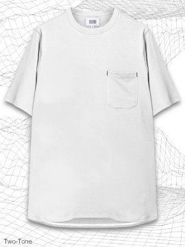 <strong>MELSIGN®</strong>TWO-TONE LONG POCKET T-SHIRTS<br>WHITE