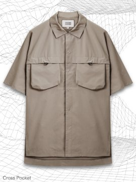 <strong>MELSIGN®</strong>CROSS POCKET SHIRTS<br>IVORY TAUPE