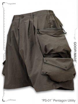 """<strong>GOOPiMADE</strong>""""PS-01"""" Pentagon Utility Shorts<br>TEA"""