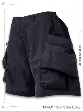"""<strong>GOOPiMADE</strong>""""MR-01"""" 3D-Rotate Utility Shorts<br>NAVY"""