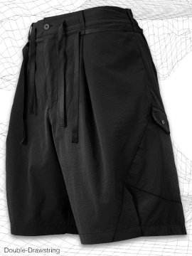 <strong>MELSIGN®</strong>Double-Drawstring Shorts<br>BLACK